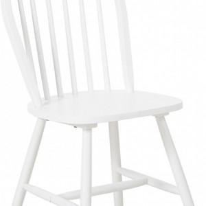 Set de 2 scaune din lemn Windsor Megan, albe