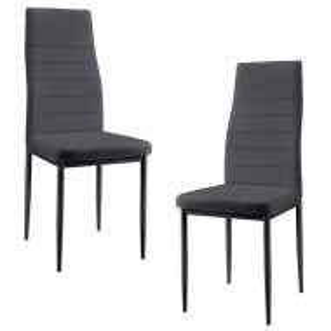 Set de 2 scaune Julian, metal, gri, 97 x 43 x 48 cm