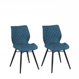 Set de 2 scaune LISLE, albastre, 44 x 47 x 86 cm