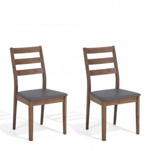Set de 2 scaune Modesto, maro/gri