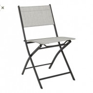 Set de 2 scaune pliante Martinez gri deschis