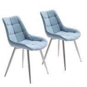 Set de 2 scaune Ralph, metal/spuma, albastru, 84 x 50 x 59 cm