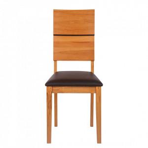 Set de 2 scaune tapitate RichWOOD, lemn masiv de fag