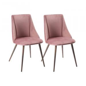Set de 2 scaune Tyrell, metal, roz, 83 x 45 x 52 cm