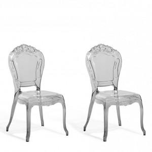 Set de 2 scaune VERMONT, negru, 52 x 52 x 98 cm