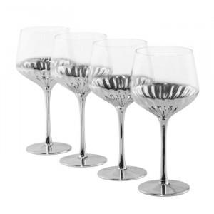 Set de 4 pahare de vin Rodney, sticla, 22 cm