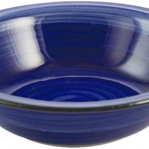 Set de 5 farfurii de supa Baita, albastru, 22 x 6 cm