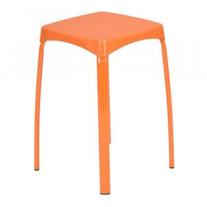 Set de 6 scaune Edmondson, portocalii, 45,5 x 32 x 32 cm
