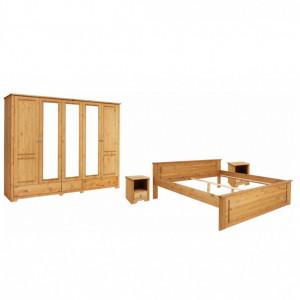 Set dormitor Home Affaire Hugo, 4 piese, lemn masiv de pin