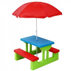 Set Mobila Picnic Oypla pentru copii cu parasolar