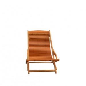 Sezlong reglabil Sun Flair, lemn masiv, maro, 75 x 59 x 110 cm