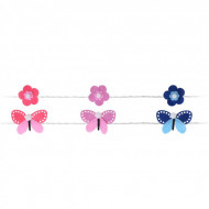Sirag de 10 lumini LED Karll fluturi si flori