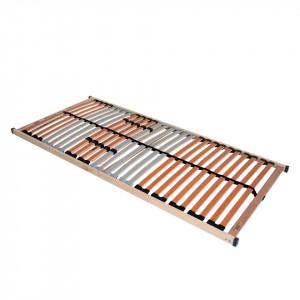 Somiera Medistar NV lemn masiv de fag/placaj de mesteacan, maro/argintiu, 100 x 200 cm