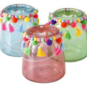 Suport de candele Pompom