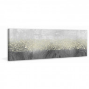 "Tablou ""Glitter Swirl III"", gri, 51 x 152 cm"
