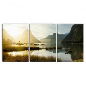 """Tablou """"Noua Zeelandă"""", 3 piese, 100 x 210 cm"""