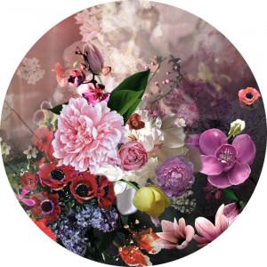 Tablou Flowermix II, roz, 50 x 50 cm