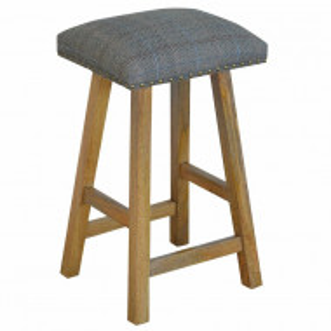 Taburet de bar 62 cm, tapiterie/lemn