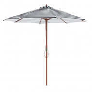 Umbrela de soare Ferenrillo, alb/negru, 245 x 260 x 260 cm