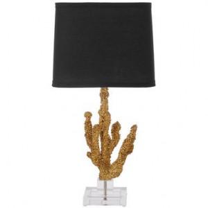 Veioza Coral negru/auriu