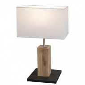 Veioza Gump stejar/ tesatura, 1 bec, alb, 230 V