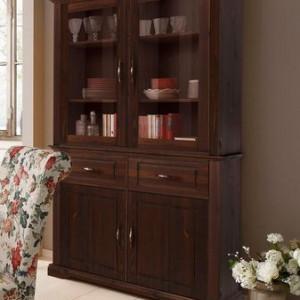 Vitrina Home Affaire lemn masiv 2 usi, 108 / 37 / 100 cm