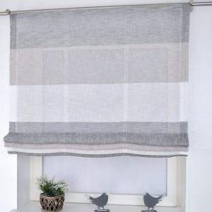 Perdea Marit -  gri / bej / alb  100 x 140 cm