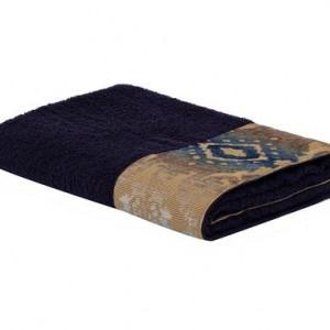 Prosop de baie, albastru inchis, 90x150 cm