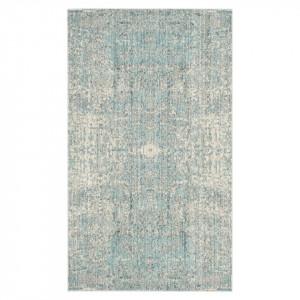 Covor Abella Vintage - fibre sintetice - albastru deschis - Crem / Petrol - 120 x 180