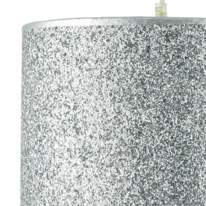 Abajur Obadiah argintiu, 20 x 30 cm