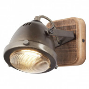 Aplica Carmen Wood otel/pal, maro, 1 bec, 230 V