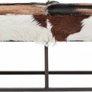 Banca Country Life din piele de capra, 140 x 47 cm