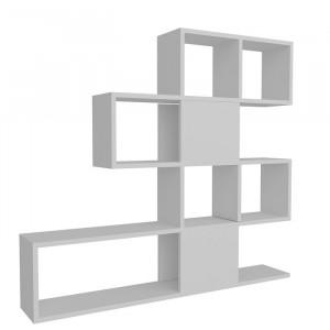 Bibliotecă Janssen, alb, 120 x 109 x 19,5 cm