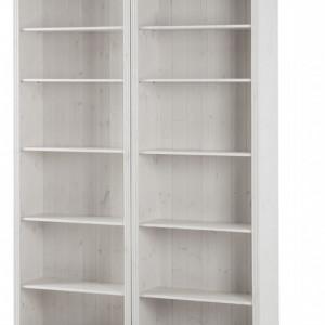 Biblioteca Lillehammer I, pin masiv, alb