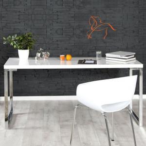 Birou Dubose, MDF, alb, 75 x 170 x 60 cm
