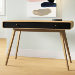 Birou Justine, maro/negru, 76 x 120 x 50 cm