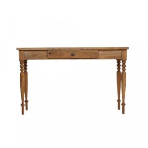 Birou Wilton, lemn masiv, maro, 77 x 130 x 35 cm