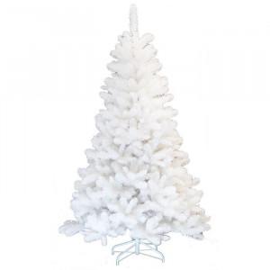 Brad de Craciun artificial, alb, cu suport, 150 x 81 x 81 cm