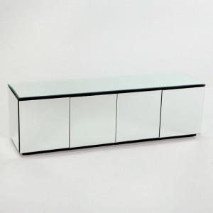Bufet Bauder, lemn/ sticla, 57 x 182 x 50 cm