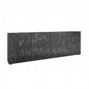Bufet Bromborough, gri inchis, 84 x 241 x 42 cm