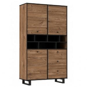 Bufet Sewill, PAL, maro/negru, 104,9 x 182,6 x 42 cm