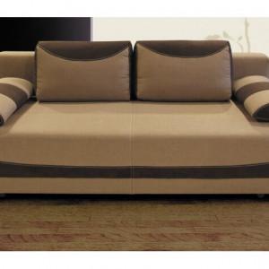 Canapea extensibilă Bavaria, maro inchis/deschis, 70 x 200 x 95 cm