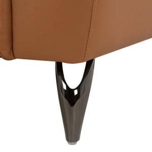 Canapea Narwik, piele naturala, maro, 93 x 203 x 98 cm