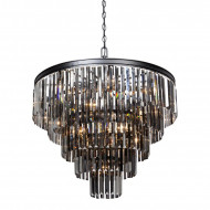 Candelabru Sinead, negru, 17 lumini, 75 x 82 x 82 cm, 60w