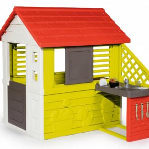 Casa de joaca pentru copii Smoby, multicolor, 145 x 110 x 127 cm