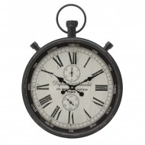 Ceas de perete Jaylon, alb/negru, 60 x 40 x 7 cm