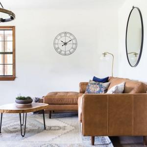 Ceas de perete Marilynn, metal, alb, 40 x 40 x 3,5 cm