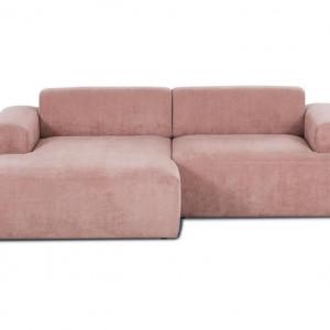 Colțar Melva cu 3 locuri, roz