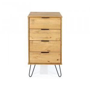 Comoda Blom, lemn masiv de pin, maro, 90,3 x 45 x 39,5 cm