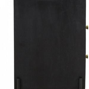 Comoda cu sertare Viena, negru/bej, 78 x 105 x 45 cm